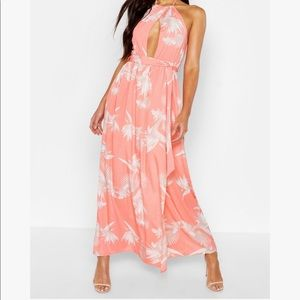 BooHoo printed Halter NeckMaxi Dress sz: 16 NWT